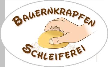 Logogestaltung der Bauernkrapfen-Schleiferei