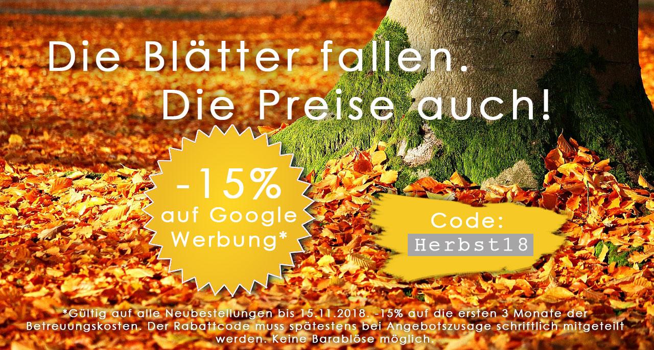 Herbst-Aktion Google Werbung
