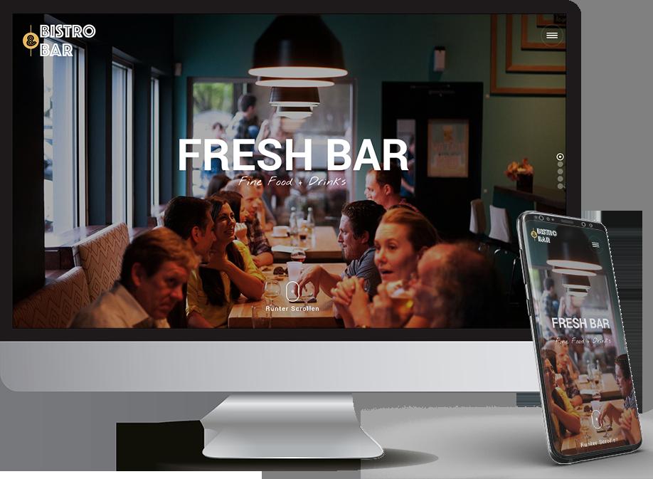 Homepage für Bar