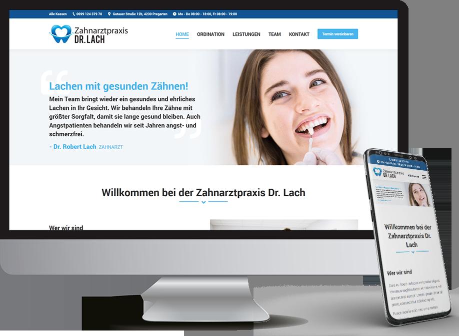Homepage für Zahnarzt
